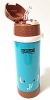 Дитячий термос с трубочкою - Слон (0,5 літра/сталевий)
