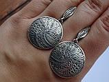 Новинка! Серебряные винтажные серьги, фото 6
