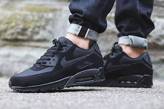 Кроссовки Nike Air Max 90 Black Черные женские