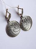 Новинка! Серебряные винтажные серьги, фото 2