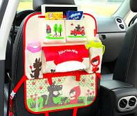 Подвесной органайзер в авто на спинку сиденья детский