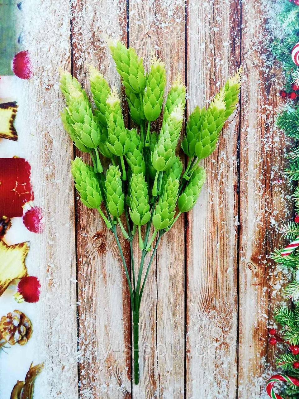 Хмель зеленый желтый пик,длинна 30 см
