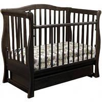 Кроватка-диван Laska-M VIVA PREMIUM с ящ. (темный орех)