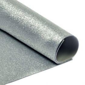 Фоамиран с глиттером А4  20 x 30 см 2 мм 1 уп .10шт Серебрянный (7949)
