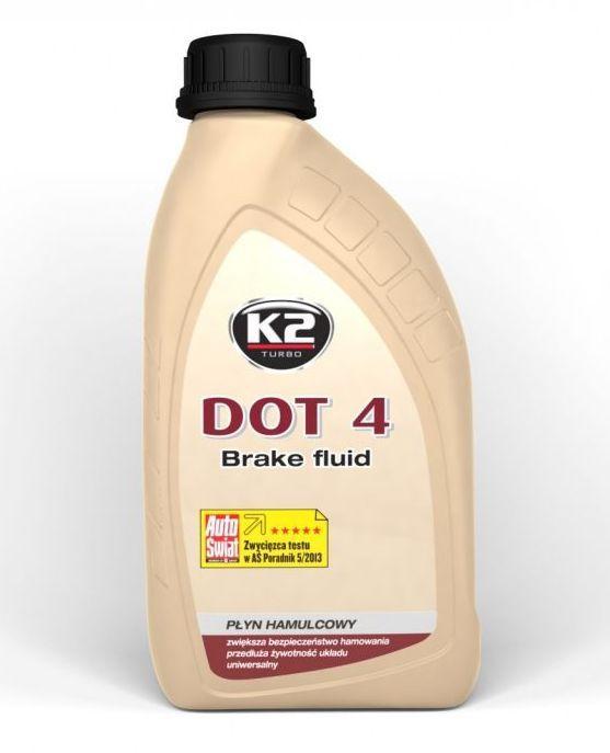 Тормозная жидкость K2 Dot 4 (упаковка 500мл)