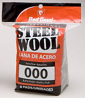 Стальная вата Red Devil Steel Wool 000 Extra Fine 8 Pads (0321)