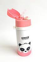 Детский термос с трубочкой - Панда (0,25 литра/стальной), фото 1