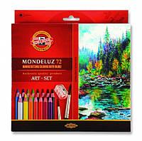 Набор цветных акварельных карандашей 72 шт. KOH-I-NOOR  3714 Mondeluz, фото 1