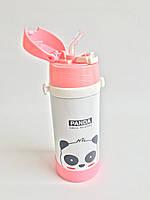 Дитячий термос с трубочкою - Панда (0,5 літра/сталевий), фото 1