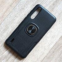 Противоударный чехол с кольцом держателем для Xiaomi Mi 9 Lite (черный)