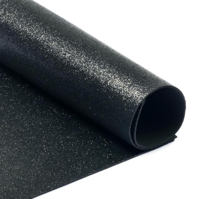 Фоамиран с глиттером А4  20 x 30 см 2 мм 1 уп 10шт Черный (7948)