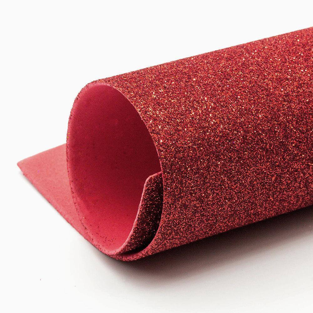 Фоамиран с глиттером А4  20 x 30 см 2 мм уп.10шт Красный (8945)