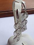 Новинка! Стильные Серебряные  серьги, фото 8