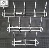 Вішалка настінна металева на 3 гачка, фото 4