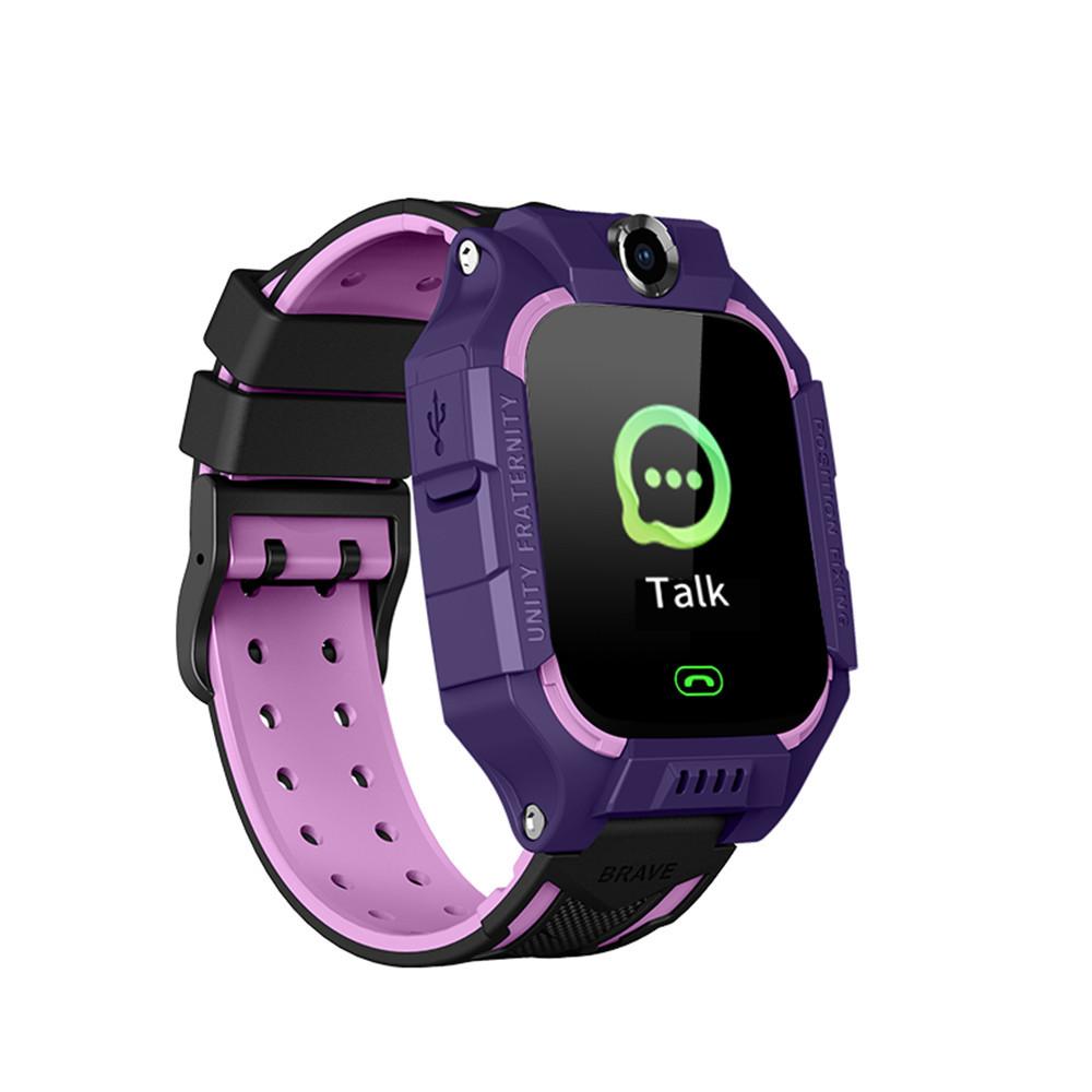Smart Baby Watch детские умные часы Brave Q19 Dark Purple с камерой