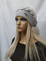 Женская шапка Берет из ангоры URCHIN