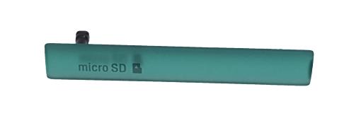 Sony D5803, D5833 Заглушка разъема USB и MicroSD, Green, original (PN:1284-3483)