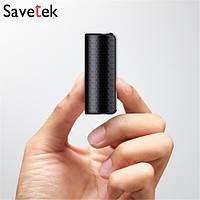 Диктофон миниатюрный цифровой Savetek 1000 с активацией голосом 32 Гб и VOX (600 часов записи)