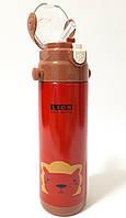 Дитячий термос с трубочкою - Лев (0,5 літра/сталевий)