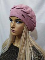 Женская шапка Берет из ангоры URCHIN Розовый