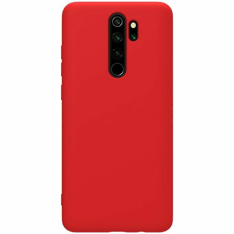 Nillkin Xiaomi Redmi Note 8 Pro Rubber-wrapped Protective Case Red Резиновый Чехол