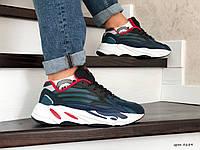 Мужские кроссовки Adidas Yeezy Boost 700 (сине-черные)