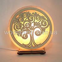 Соляная лампа круглая Денежное дерево
