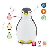 ZAZU - Светильник-ночник Пингвиненок, серый