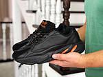 Чоловічі кросівки Adidas Yeezy Boost 700 (чорно-помаранчеві), фото 2
