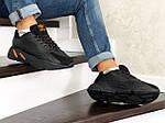 Чоловічі кросівки Adidas Yeezy Boost 700 (чорно-помаранчеві), фото 3