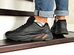 Чоловічі кросівки Adidas Yeezy Boost 700 (чорно-помаранчеві), фото 4