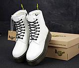 🔥 Ботинки женские Dr. Martens Jadon доктор мартинс белые зимние на меху кожаные, фото 6
