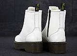 🔥 Ботинки женские Dr. Martens Jadon доктор мартинс белые зимние на меху кожаные, фото 8