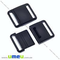 Застёжка-фастекс для браслетов выживания, 23х19х6 мм, Черный, 1 шт (ZAM-013263)