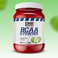 Аминокислоты UNS BCAA G-Powder 600 г Яблоко УНС ВСАА