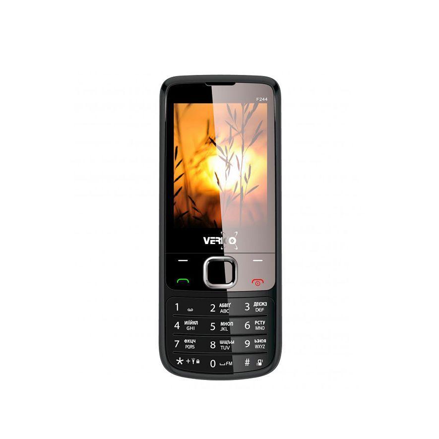 Телефон мобильный кнопочный на 2 сим карты Verico F244 черный