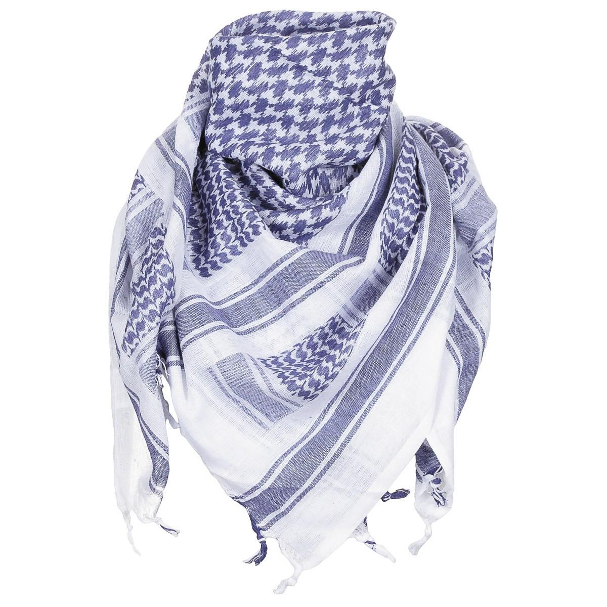Куфия (арафатка) 115x110см сине-белая MFH