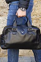 Дорожная сумка из натуральной кожи Armani, фото 1