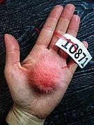 Меховой помпон Норка, Алый, 5/7 см, 10871