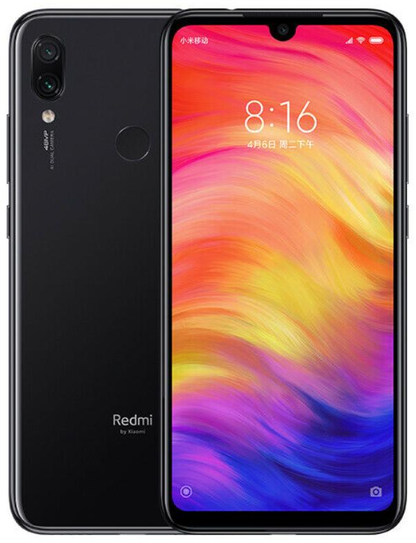 "Xiaomi Redmi Note 7 Black 6/64 Gb, 6.3"", Snapdragon 660, 3G, 4G (Global Rom)"