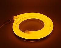 Светодиодный гибкий неон 220В, IP65 желтый