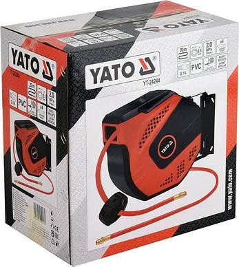 Шланг пневматический на катушке YATO YT-24244, фото 2