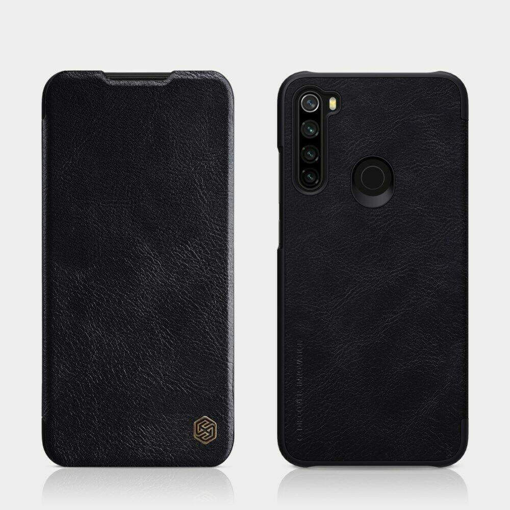 Nillkin Xiaomi Redmi Note 8 Qin leather Black case Кожаный Чехол Книжка