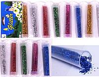 """Набір для творчості 988-12 """"Пісок блискучий"""" 6цветов в тубі (ціна за 1шт) уп12 ящ720"""