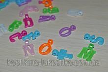 Акриловые подвески буквы английски алфавит от A до Z