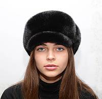 Норковая цельная кепка женская