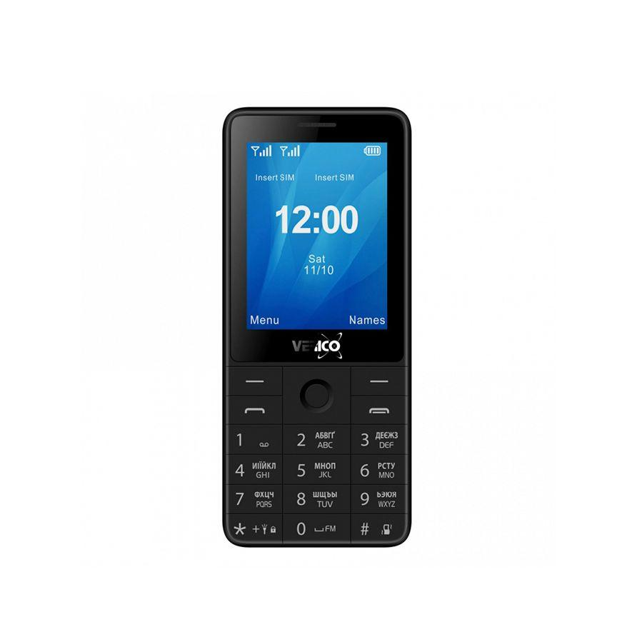 Мобильный кнопочный телефон на 2 сим карты Verico Qin S282 черный