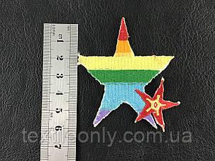 Нашивка звездочка 63х65 мм, фото 2
