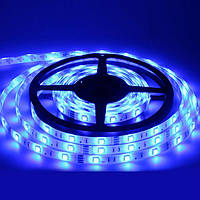 LED лента  3528 Blue 60 12V без силикона, дюралайт, светодиодная лента