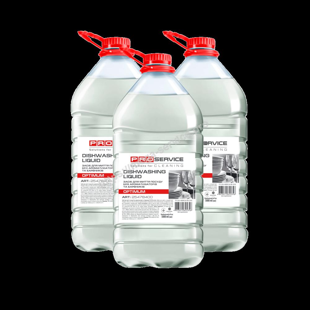 PRO Засіб для миття посуду без ароматизаторів та барвників, 5 л OPTIMUM